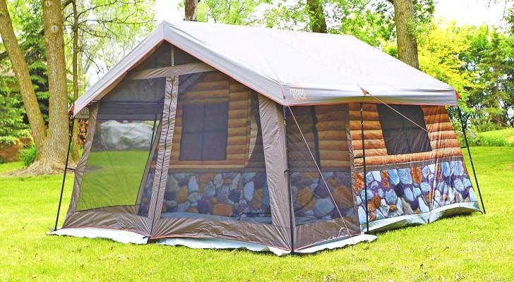 Cette tente de camping en style cabane offre une expérience luxueuse et est pensée dans les moindres détails