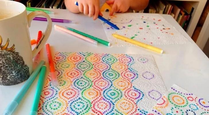 Papier absorbant et feutres : découvrez comment amuser les enfants avec cette activité créative