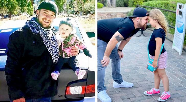 Er findet sich dabei wieder, seine Tochter allein aufzuziehen, nachdem ihre Mutter sie beide verlassen hat: Ein süßer Superpapa