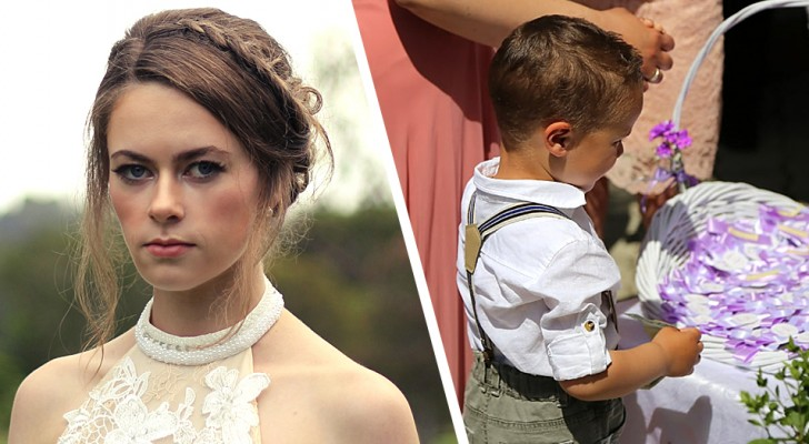 Bruid stuurt haar zus weg van de bruiloft omdat haar neefje zich misdraagt