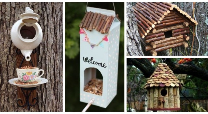 Décorez le jardin avec de fantastiques cabanes à oiseaux DIY