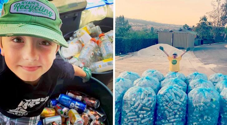 Mit 11 Jahren hat er bereits 1 Million Dosen und Plastikfaschen recycelt: Er will den Planeten zu einem besseren Ort machen