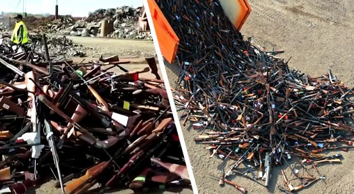 Belgien schmilzt mehr als 22.000 Schusswaffen und verwandelt sie in Tonnen von Stahl