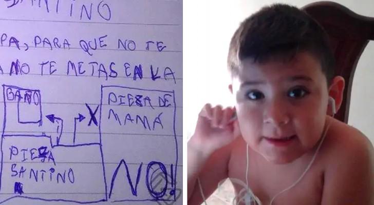 Um menino de 6 anos desenha um mapa para o ratinho do dente: Para você não se perder e não assustar a mamãe
