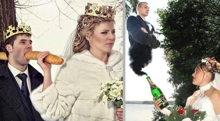Russische Hochzeiten: 18 Aufnahmen, die so unwahrscheinlich sind, dass sie fast überzeugen