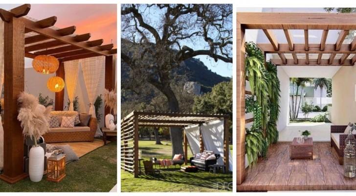 Crea bellissime aree relax in giardino con pergolati in legno, moderni ed eleganti