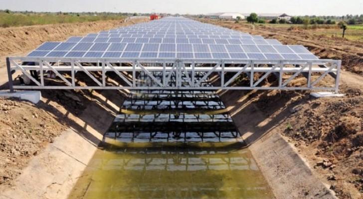 Deze zonnepanelen geïnstalleerd boven kanalen kunnen miljarden liters water besparen