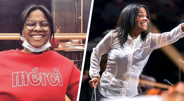 Geboren in een arm gezin, verkocht ze groenten en fruit: vandaag is ze de eerste vrouwelijke en zwarte dirigent