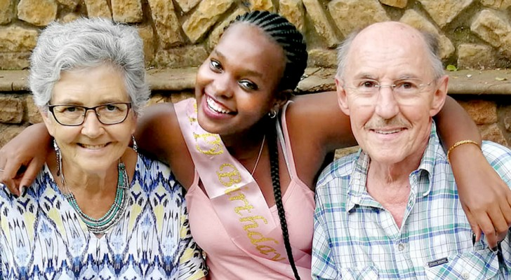 A black girl is adopted by an elderly couple: Thank you for making me feel loved