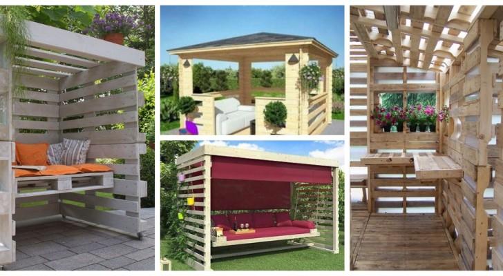 Un kiosque avec des palettes : meublez le jardin avec ces très belles structures solides