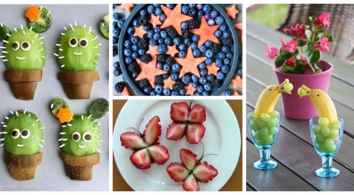 Porta una ventata di allegria sulla tavola presentando frutta e antipasti in modo super-scenografico