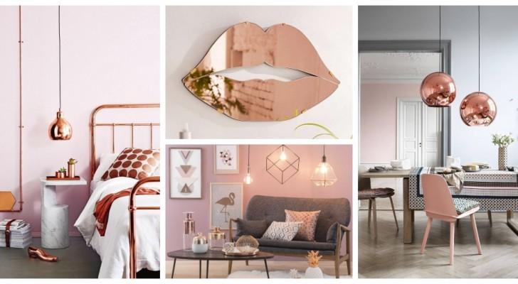 Rame e rosa blush: scopri come usare questi due colori per creare ambienti romantici e sofisticati