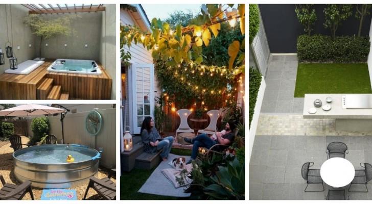 Piccolo cortile o giardino: trasformalo in un'oasi di relax con queste soluzioni brillanti