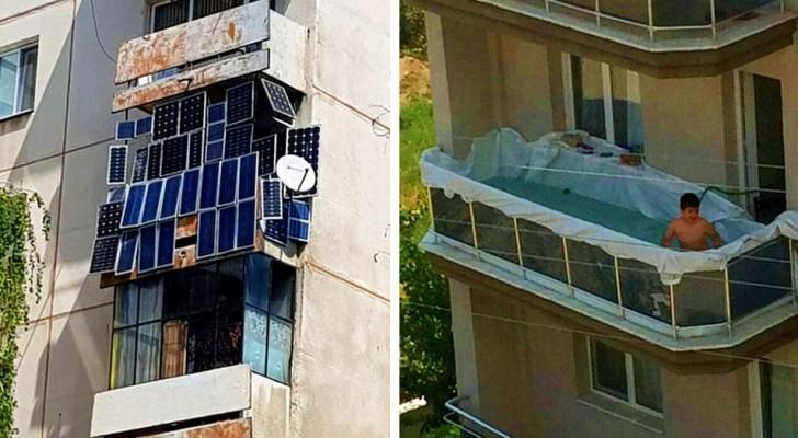 15 balconi talmente insoliti da confondere le persone che li hanno osservati