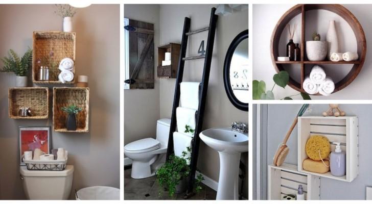 Serve spazio extra in bagno? Aggiungi fantastici scaffali e mensole fai-da-te con queste idee
