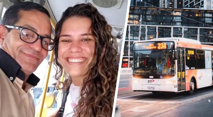 Um motorista de ônibus leva uma garota em dificuldade para uma entrevista e ela consegue o emprego