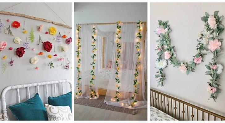 Ghirlande floreali in camera da letto: aggiungi un tocco delicato e romantico con queste idee