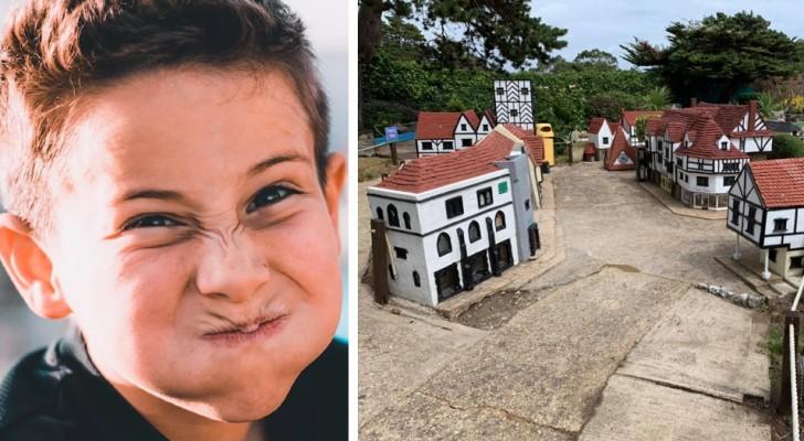 Ze beschadigen een miniatuurdorp: ouders dwingen hen als straf vrijwilligerswerk te doen in het park