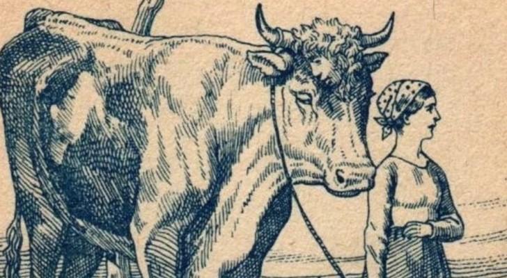 Eine Frau mit einem Stier, aber nicht nur das: Sehen Sie das im Bild versteckte Gesicht?