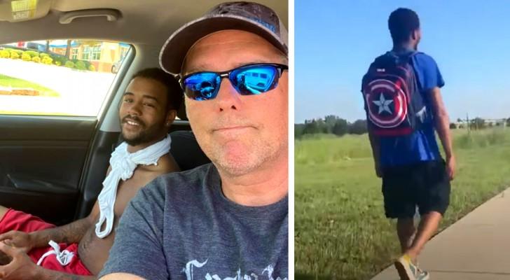 Il marche 27 km par jour pour se rendre au travail : un inconnu lui propose de le conduire et change sa vie