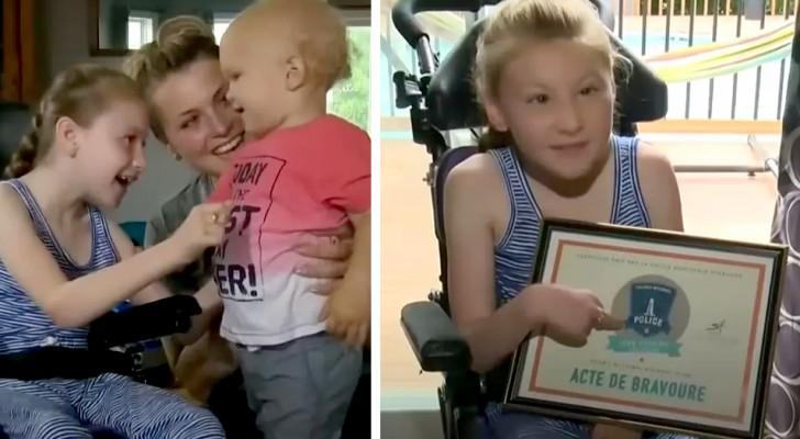Uma menina cadeirante salva seu irmão de 18 meses: ele estava prestes a se afogar na piscina