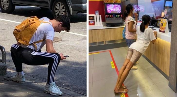 Deze Instagram-pagina verzamelt de hilarische poses die mensen in het openbaar hebben genomen