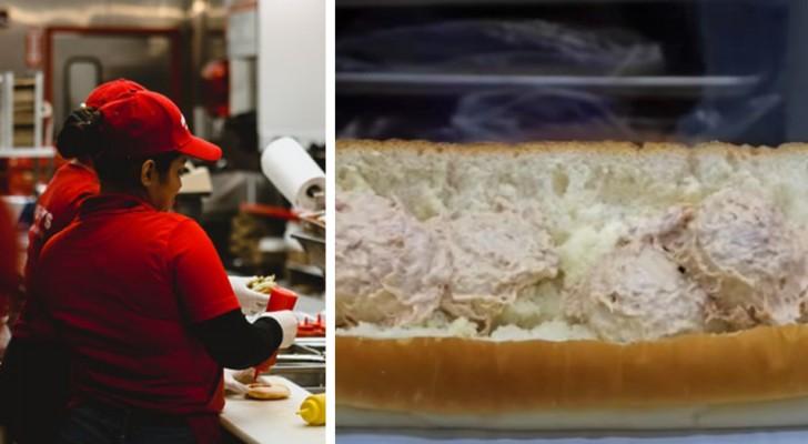 Er zit geen spoor van tonijn in een broodje tonijn: laboratorium analyseert de producten van een fastfoodketen