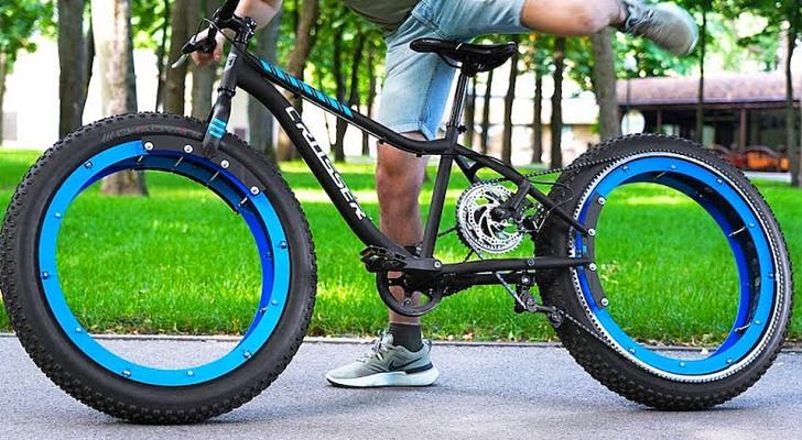 Pas de moyeux ni de rayons : un garçon modifie son vélo et le transforme en un véhicule à l'allure futuriste