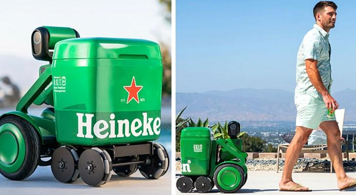 Heineken presenta un robottino smart che ti segue portandoti le birre fresche