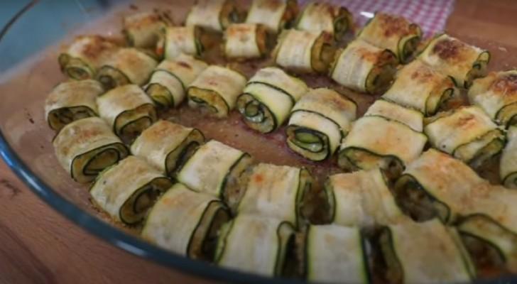 Enroulés de courgettes au four : le plat léger et rapide qui apporte l'été sur la table