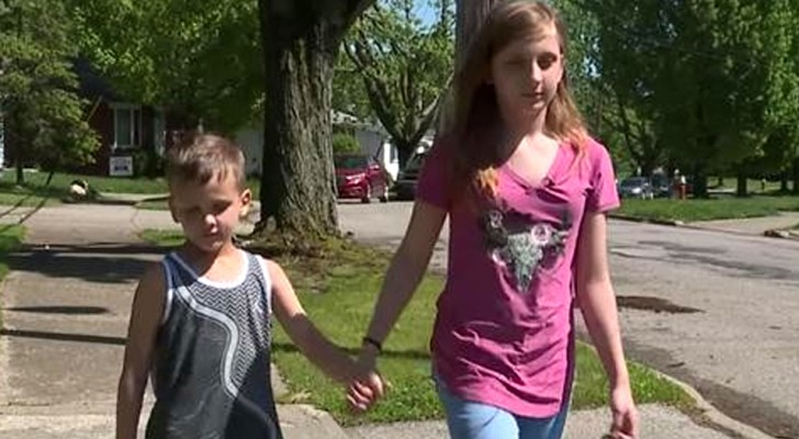 Eleven-year-old saves her 6-year-old brother from a stranger who tried to kidnap him while they were playing