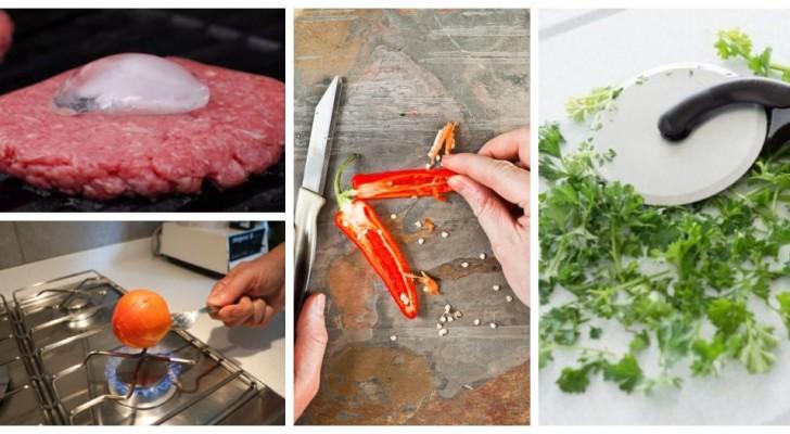 9 trucchi da sfoggiare in cucina per risolvere tante situazioni come dei veri chef