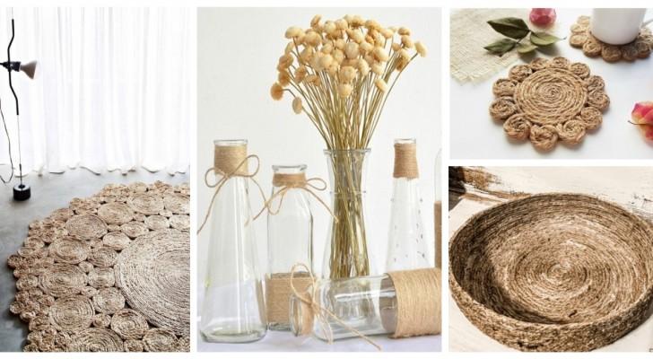 Ficelle et corde de jute : utilisez-les pour décorer votre intérieur avec une touche naturelle et rustique