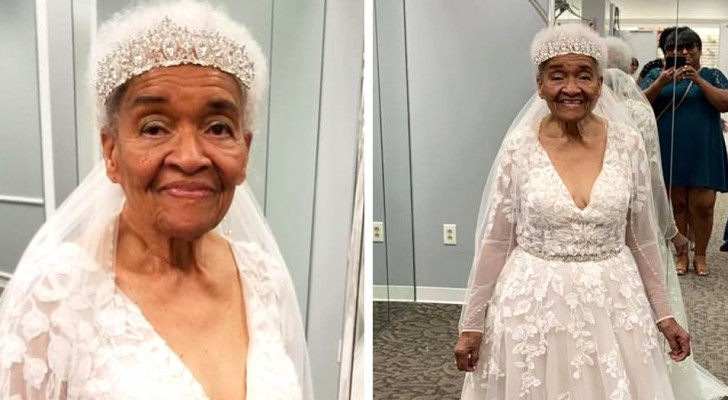 A granddaughter fulfills her 94-year-old grandmother's wish to be able to wear a wedding dress for the first time