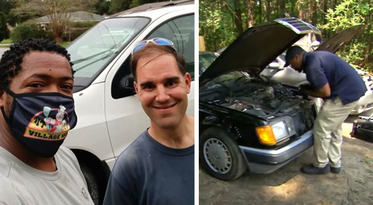 He fixes old cars and gives them to those who need them most: Without a car, it's hard to find a good job