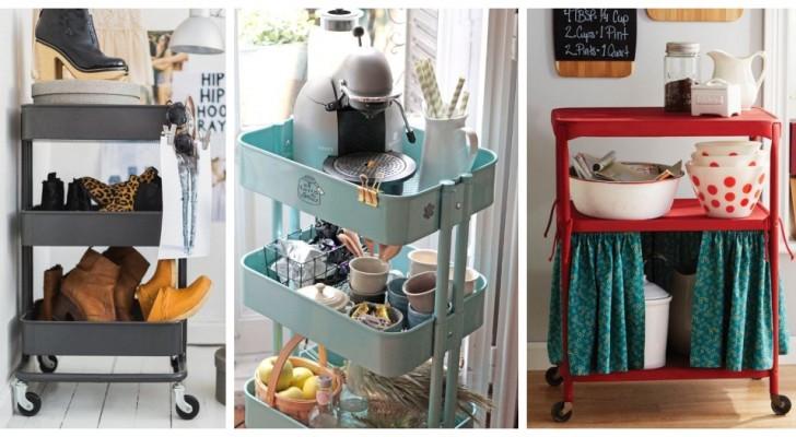 Utilisez les chariots pour meubler de façon belle et fonctionnelle n'importe quelle pièce de chez vous