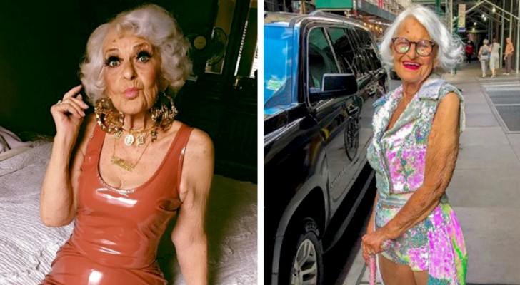 A los 92 años no le importa la opinión de los demás y usa ropa colorida y juvenil: