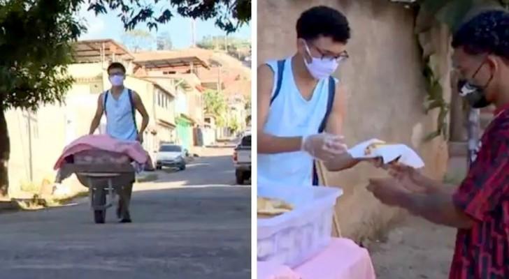 Non riesce a trovare lavoro e decide di vendere il pane fatto in casa dalla madre: una storia commovente