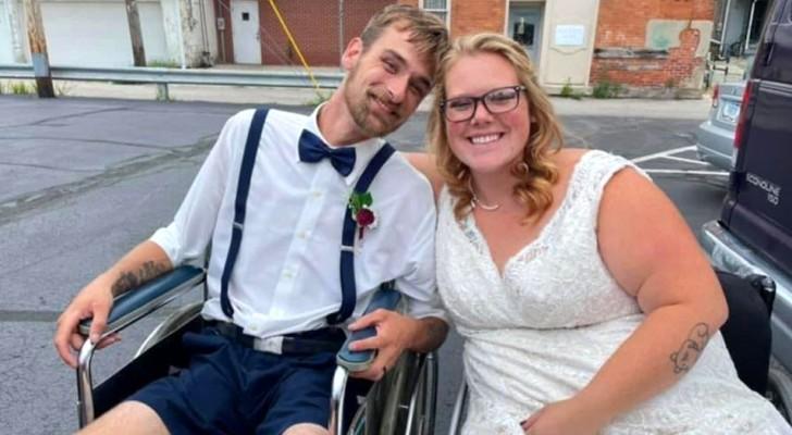 Den Ärzten zufolge würde sie nicht mehr laufen und keine Kinder bekommen: Am Tag ihrer Hochzeit ist sie im vierten Monat schwanger und schreitet durch das Kirchenschiff