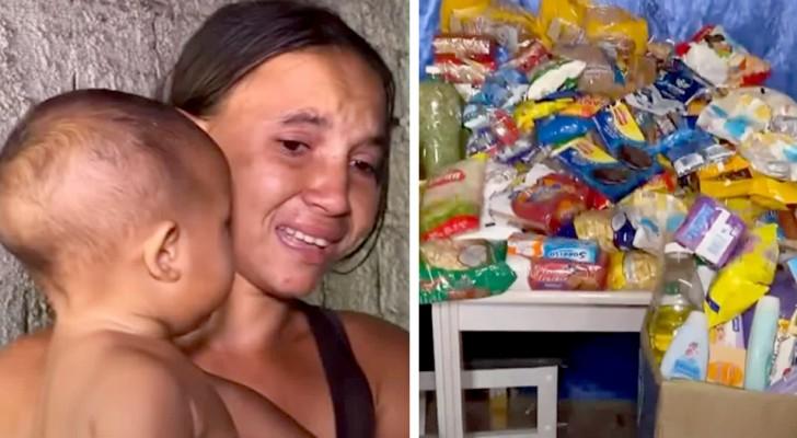 """""""Ik haal het einde van de maand niet!"""": moeder van 4 kinderen lanceert een wanhopig appèl en ontvangt veel donaties"""