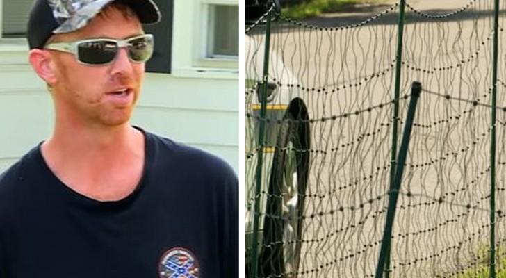 Il installe une clôture électrique pour empêcher les enfants d'entrer sur sa pelouse : cet homme divise l'opinion publique