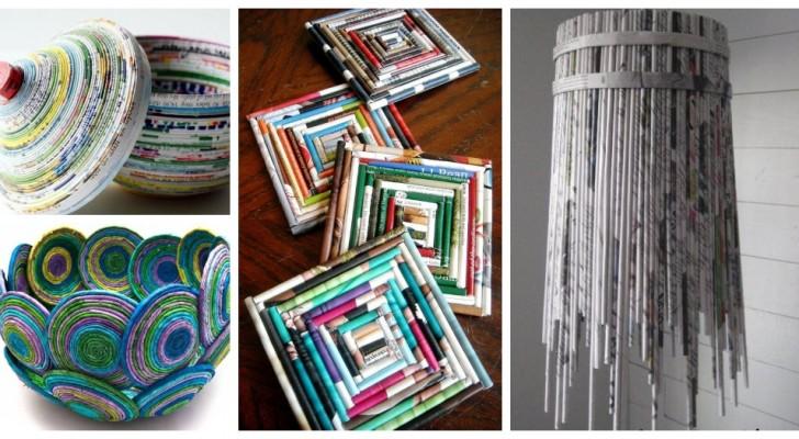 Vieux journaux et magazines : découvrez comment les recycler avec de nombreux projets super créatifs
