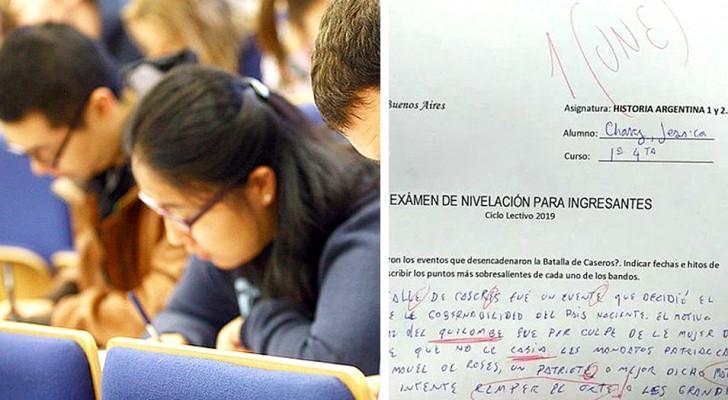En student använder ett inkluderande språk på provet, läraren gillar inte det och betygsätter en etta