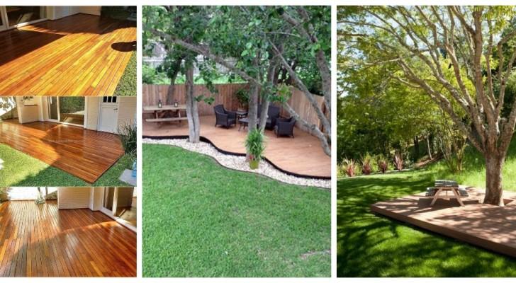 Plateformes et planchers en bois: utilisez-les pour décorer avec goût le jardin et créer de superbes espaces détente