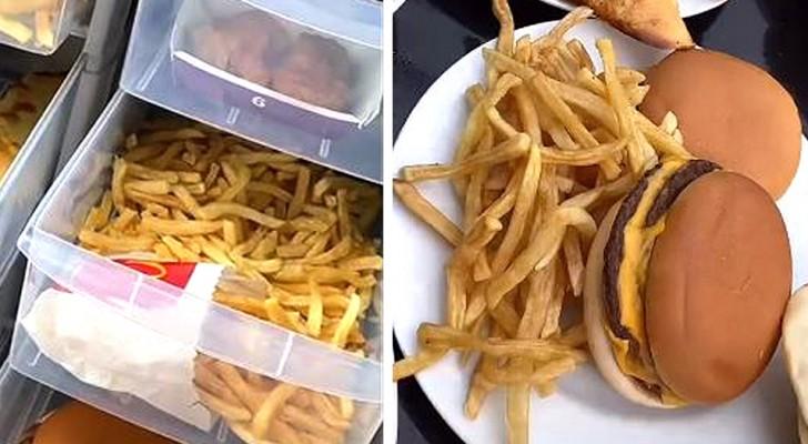 Una mamma conserva per anni i prodotti di un fast food e dimostra che rimangono intatti