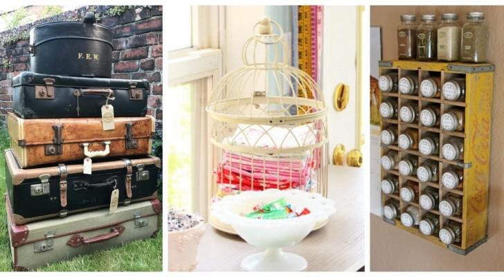 Accessori e mobili per far ordine in casa? Scopri tanti oggetti vintage perfetti per il riciclo creativo
