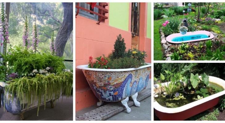 Vasca da bagno in giardino? Scopri le trovate più creative per riciclare questo oggetto