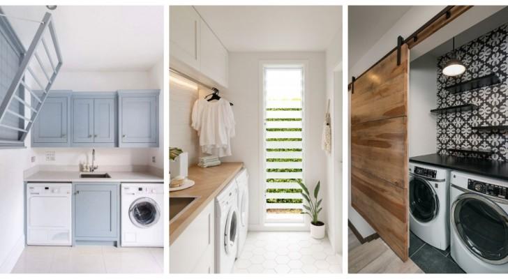 Allestisci un angolo lavanderia bello e funzionale anche negli spazi più piccoli