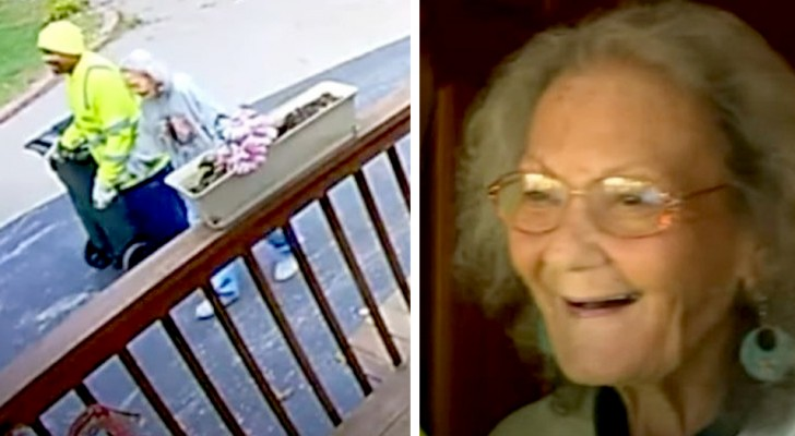 Netturbino aiuta ad alzare da terra un'anziana che era caduta: da lì nasce un'amicizia indissolubile