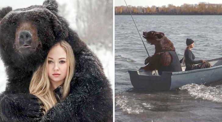Salva un cachorro de oso de un zoológico en crisis y se convierte en su animal doméstico: ahora son inseparables